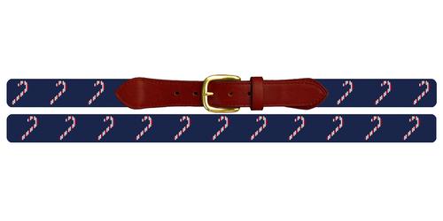 Christmas Candy Cane Needlepoint Belt