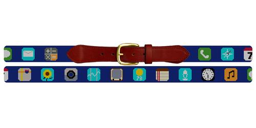 Classic Phone App Needlepoint Belt
