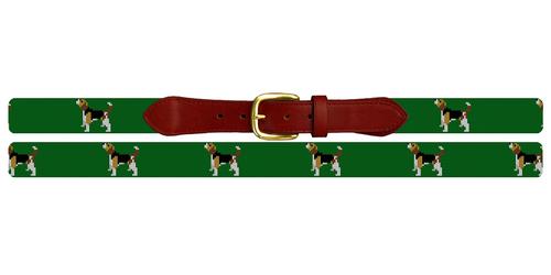 Beagle Needlepoint Belt