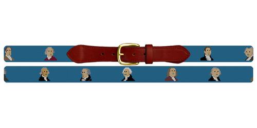 Founding Fathers Needlepoint Belt