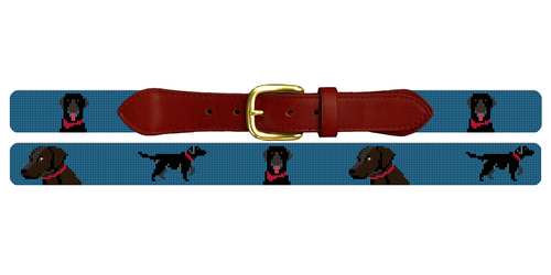 Labrador Retriever Needlepoint Belt