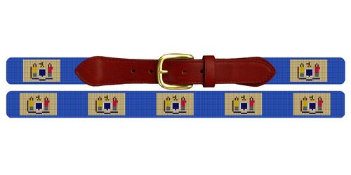 New Jersey Flag Needlepoint Belt