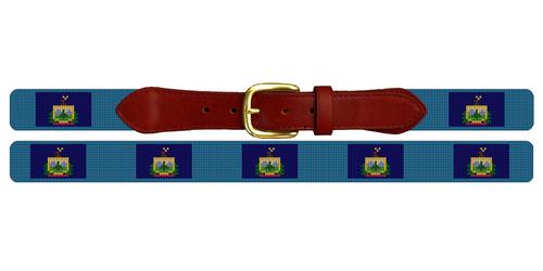 Vermont Flag Needlepoint Belt
