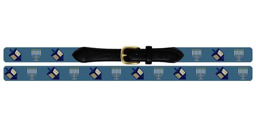 Hanukkah Needlepoint Belt