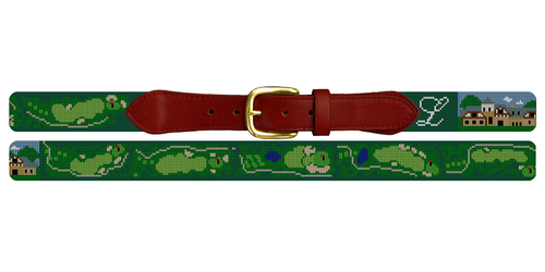 The Ledges Golf Course Needlepoint Belt
