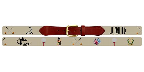 Custom Golf Needlepoint Belt