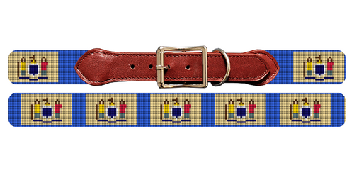 New Jersey Flag Needlepoint Dog Collar