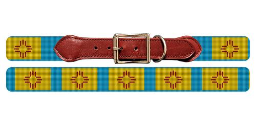 New Mexico Flag Needlepoint Dog Collar
