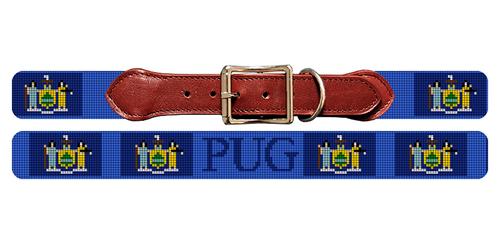 New York Flag Needlepoint Dog Collar
