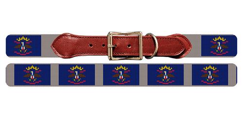North Dakota Flag Needlepoint Dog Collar
