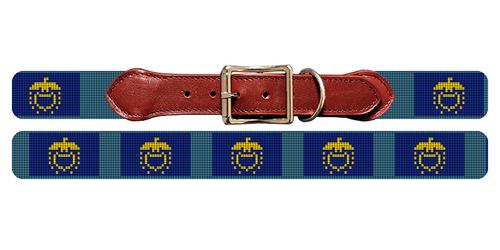 Oregon Flag Needlepoint Dog Collar