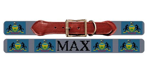 Pennsylvania Flag Needlepoint Dog Collar