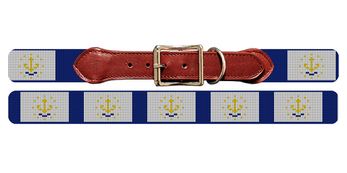 Rhode Island Flag Needlepoint Dog Collar