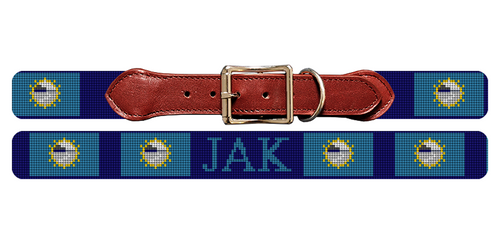South Dakota Flag Needlepoint Dog Collar