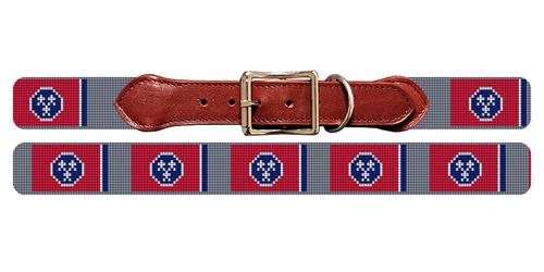 Tennessee Flag Needlepoint Dog Collar