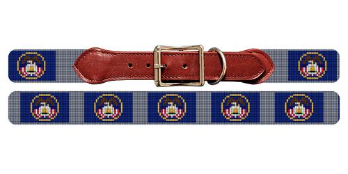 Utah Flag Needlepoint Dog Collar