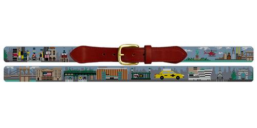 New York City Needlepoint Belt