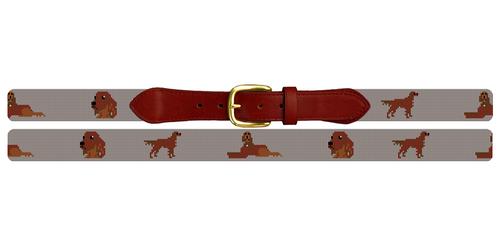 Irish Setter Needlepoint Belt
