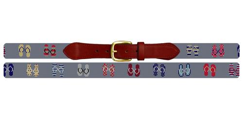 Flip Flops Needlepoint Belt