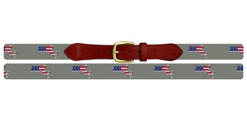 Massachusetts State Needlepoint Belt