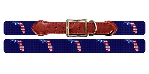 Florida State Needlepoint Dog Collar