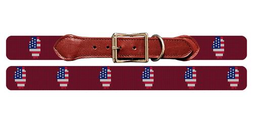 Illinois State Needlepoint Dog Collar