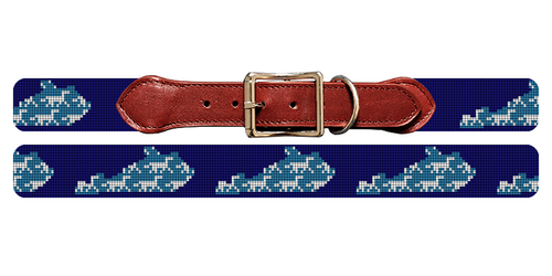 Kentucky State Needlepoint Dog Collar
