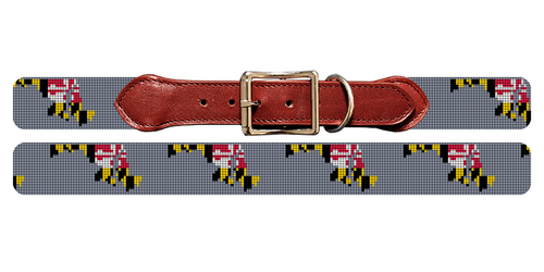 Maryland State Needlepoint Dog Collar