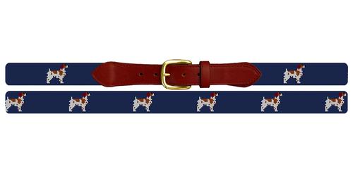 Brittany Spaniel Needlepoint Belt