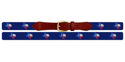 Texas State Needlepoint Belt