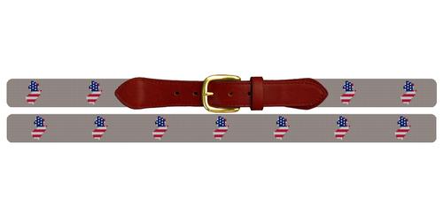 New Jersey State Needlepoint Belt