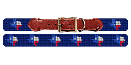Texas State Needlepoint Dog Collar