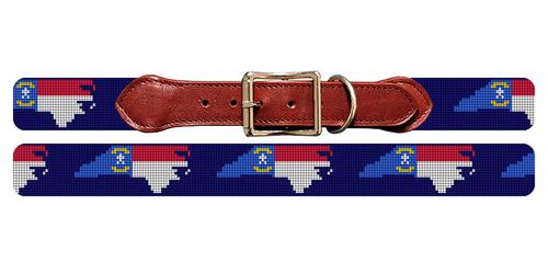 North Carolina State Needlepoint Dog Collar