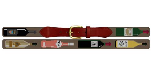 Custom Wine Needlepoint Belt