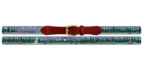Lake Tahoe Needlepoint Belt