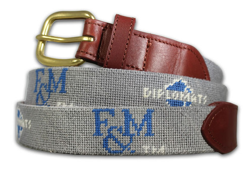Franklin and Marshall College Needlepoint Belt