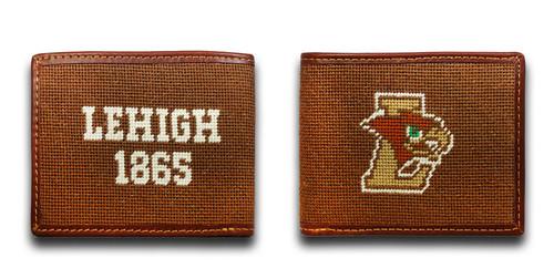 Lehigh University Mountain Hawk Needlepoint Wallet