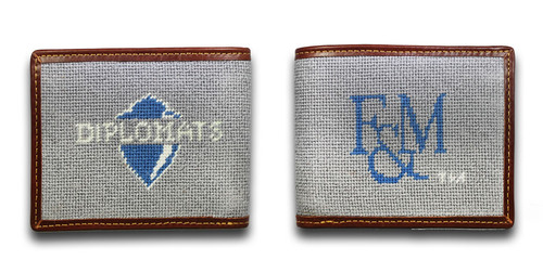 Franklin and Marshall Diplomats College Needlepoint Wallet