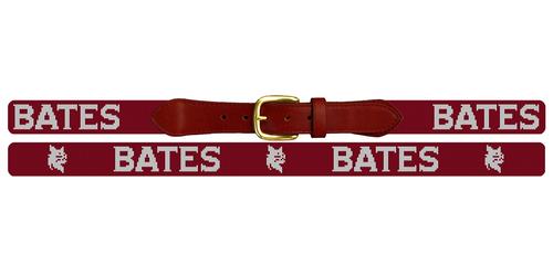 Bates College Needlepoint Belt Flat