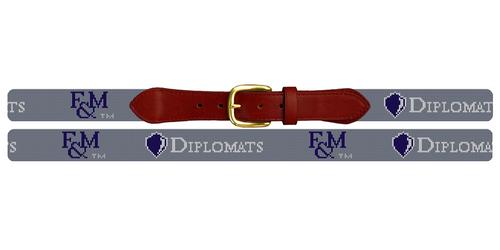 Franklin and Marshall Diplomats Needlepoint Belt