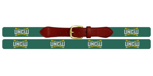 University of North Carolina Wilmington Personalized Needlepoint Belt