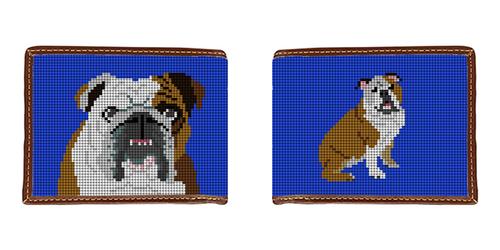 English Bulldog Needlepoint Wallet