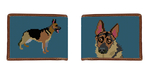German Shepherd Needlepoint Wallet