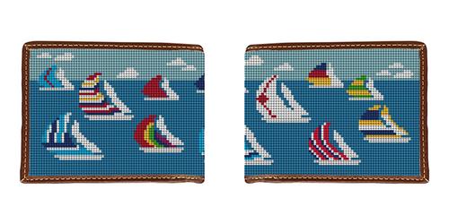 Sailing Regatta Needlepoint Wallet