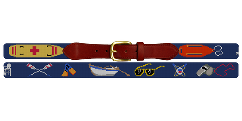 Lifeguard Needlepoint Belt