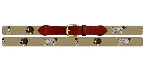 Pointer Needlepoint Belt