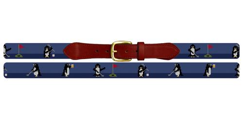 Penguins On Par Needlepoint Belt