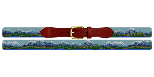 Rocky Mountain Needlepoint Belt