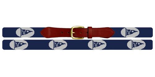 Custom Burgee Flag Needlepoint Belt