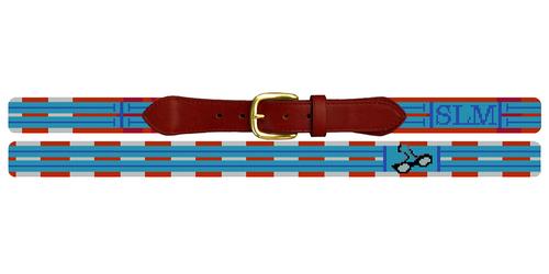 Swimming Needlepoint Belt